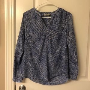 Dalia Blue and White Blouse